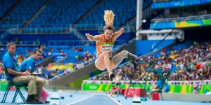 Marlene Van Gansewinkel of the Netherlands competes in the Womens Longjump Final T44 during day 2 of the Paralympic Games in Rio de Janeiro, Brasil, September 9, 2016